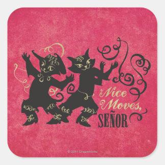 Nice Moves, Senor Square Sticker