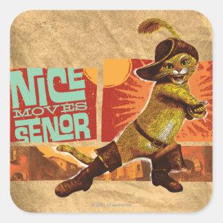 Nice Moves Senor Square Sticker