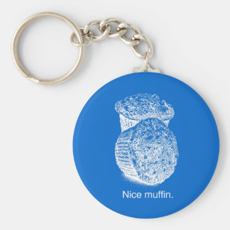 NICE MUFFIN - WHITE -.png Keychain