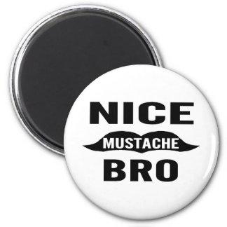 Nice Mustache Bro 2 Inch Round Magnet