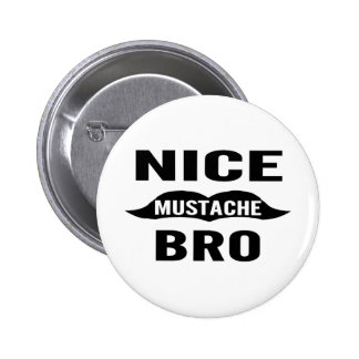 Nice Mustache Bro Button