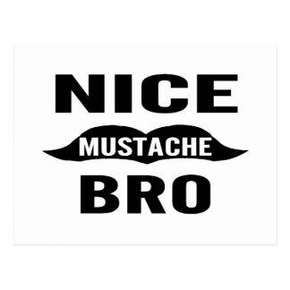 Nice Mustache Bro Postcard