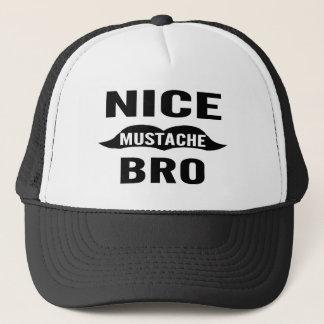 Nice Mustache Bro Trucker Hat
