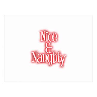nice & naughty postcard