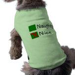 Nice Not Naughty Christmas Dog Clothing