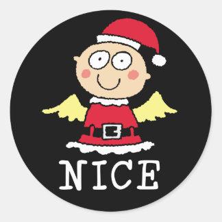 Nice not Naughty Gifts Classic Round Sticker