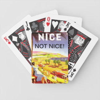NICE - NOT NICE - PLAYING CARDS VINTAGE FRENCH