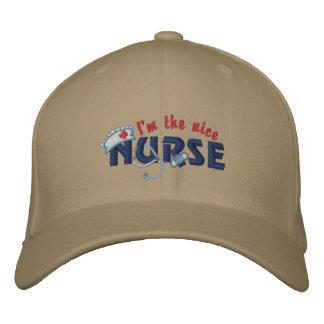 Nice Nurse Embroidered Baseball Hat