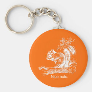NICE NUTS - WHITE -.png Keychain