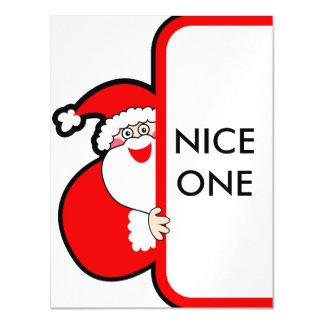 Nice One Typography Christmas Santa Billboard Magnetic Card