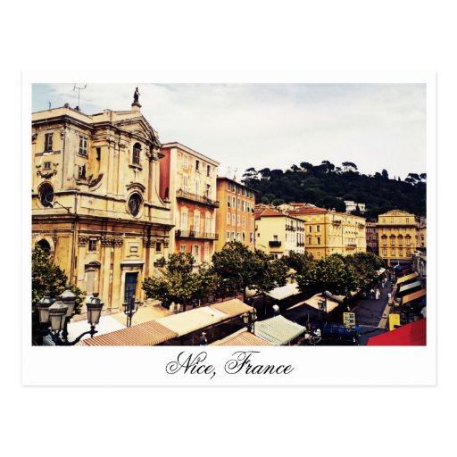 Nice, open market, Provence France Post Cards