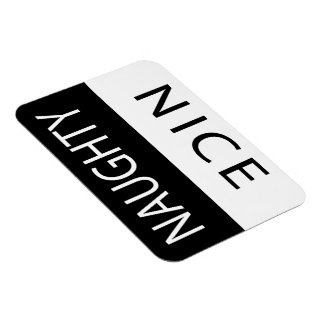 Nice or Naughty Funny Flipable Magnet