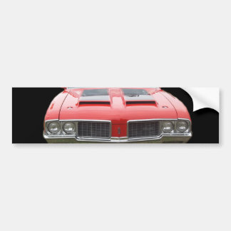 Nice orangish or red Oldsmobile Cutlass Car Bumper Sticker