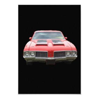 Nice orangish or red Oldsmobile Cutlass Card