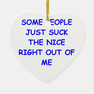 nice Double-Sided heart ceramic christmas ornament