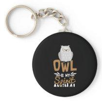 Nice Owl Is my Spirit Animal Dark Print Keychain