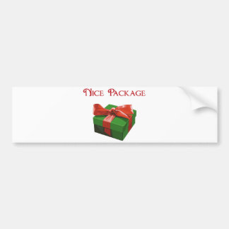 Nice Package Christmas Present Car Bumper Sticker