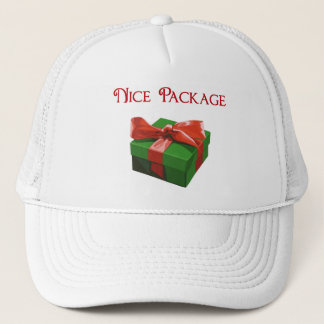 Nice Package Christmas Present Trucker Hat
