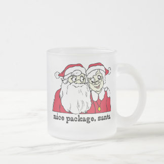 Nice Package Santa Claus Frosted Glass Coffee Mug