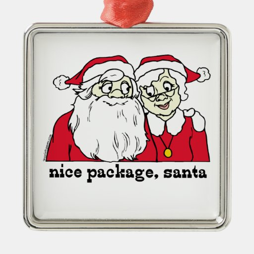 Nice Package Santa Claus Ornament