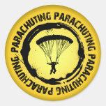 Nice Parachuting Seal Round Stickers