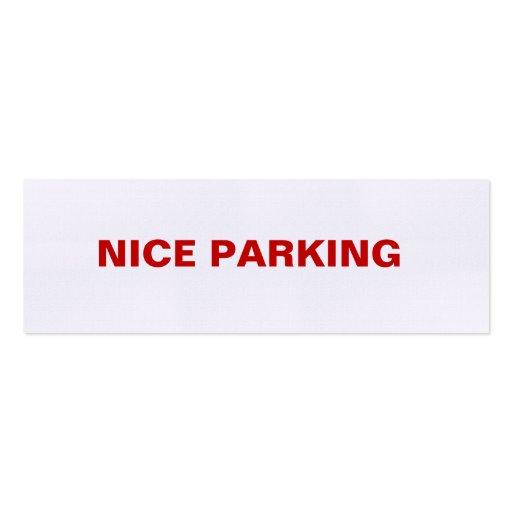 NICE PARKING BUSINESS CARD