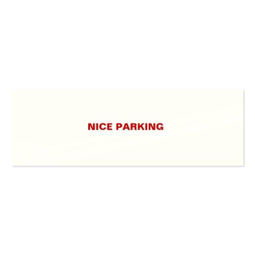 NICE PARKING BUSINESS CARD TEMPLATES