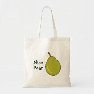 Nice Pear -- Fruity, Flirty Design Tote Bag