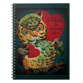 Nice Person Owl Valentine Notebook