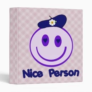 Nice Person Smiley 3 Ring Binder