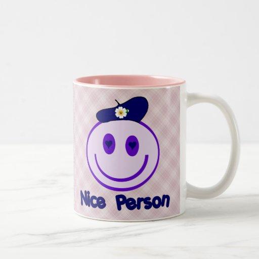 Nice Person Smiley Coffee Mug