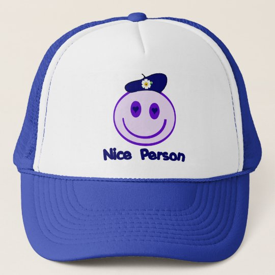 Nice Person Smiley Trucker Hat