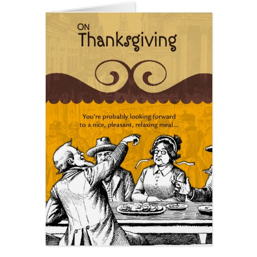 Nice Pleasant Meal on Thanksgiving Card