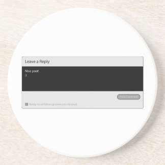 Nice Post Blog Comment Box Coaster