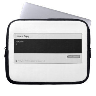 Nice Post Blog Comment Box Laptop Sleeve