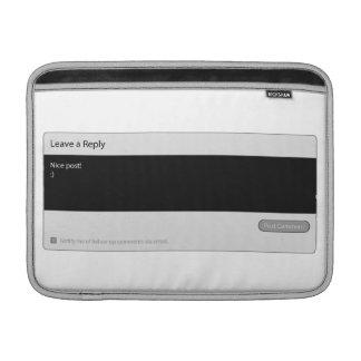 Nice Post Blog Comment Macbook Sleeve