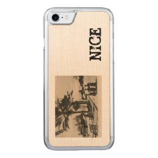 Nice promenade by the beach Replica postcard Carved iPhone 7 Case