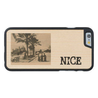 Nice promenade by the beach Replica postcard Carved® Maple iPhone 6 Case