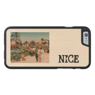 NICE promonade 1910 vintage postcard Carved® Maple iPhone 6 Slim Case