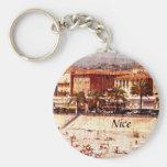 Nice, Provence beach keychain