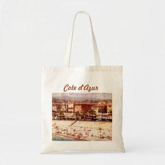 Nice, Provence beach tote bag
