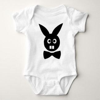 nice rabbit with bow tie icon baby bodysuit