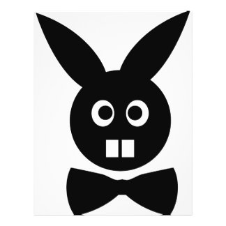 nice rabbit with bow tie icon flyer