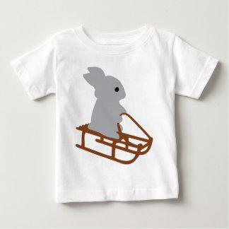 nice rabbit with toboggan icon baby T-Shirt