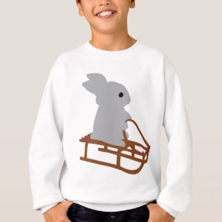 nice rabbit with toboggan icon sweatshirt