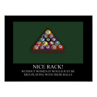 NICE RACK Billiards Pool Poster