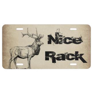 Nice Rack Elk Hunting Novelty Front License Plate