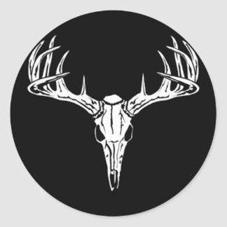 Nice Rack-Trophy Buck-Deer Rack Classic Round Sticker