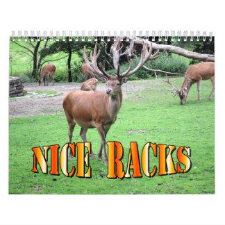 Nice Racks Wall Calendar
