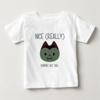 Nice (Really) - Vampire Bat Girl Baby T-Shirt